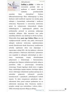 prasa o gabinecie kosmetycznym dermadent z sanoka