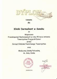 gabinet kosmetyczny dermadent - dyplom